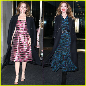 Leslie Mann Rocks Two Different Looks While Promoting 'Blockers' With Kathryn Newton