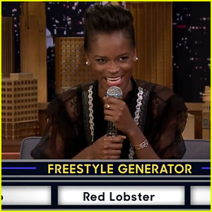 Letitia Wright Freestyles With Jimmy Fallon While Playing 'Wheel of Freestyle' - Watch Now!