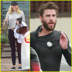 Liam Hemsworth Grabs Breakfast with Miley Cyrus Before Hitting the Waves!