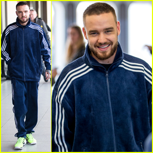 Liam Payne Wears Highlighter Yellow Sneakers While Arriving in Germany