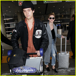 Cole Sprouse Returns From Paris With Lili Reinhart By His Side