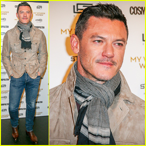 Luke Evans Hits Paris for 'Professor Marston and the Wonder Women' Premiere!