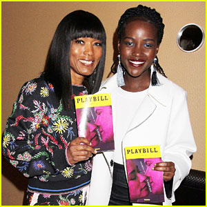 Lupita Nyong'o & Angela Bassett Reunite to Watch a Broadway Show Together!