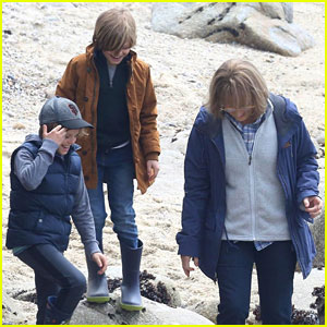 Meryl Streep Films 'Big Little Lies' With Her On-Screen Grandsons at the Beach
