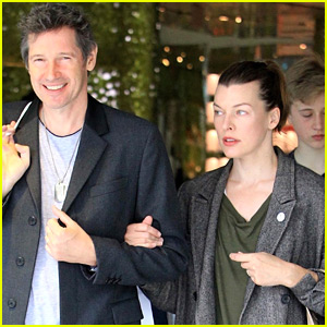 Milla Jovovich & Husband Paul W. S. Anderson Go Shopping in Beverly Hills