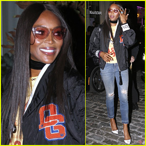 Naomi Campbell Goes Sporty Chic for Dolce & Gabbana Store Opening!