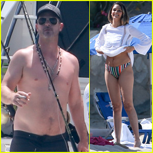 New Parents Robin Thicke & April Love Geary Hit the Beach in Mexico!