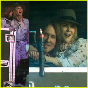 Nicole Kidman Supports Keith Urban at His Stagecoach Set!