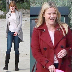 Nicole Kidman & Reese Witherspoon Get Into Character on 'Big Little Lies' Set!