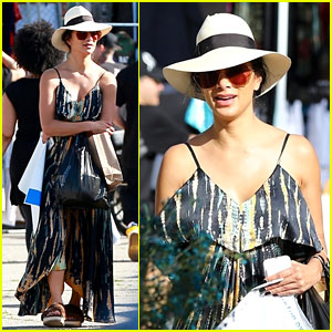 Nicole Scherzinger Soaks Up the Sun in Cute Maxi Dress