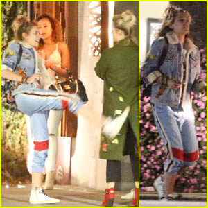 Paris Jackson Gets Playful With Friends After Grabbing Sushi at Nobu!
