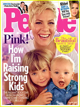Pink Is People's Beautiful Issue 2018 Cover Star with Her 2 Kids!