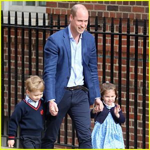 Prince George & Princess Charlotte Arrive to Meet Their New Baby Brother (Photos)