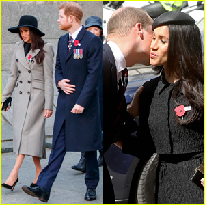 Prince Harry & Meghan Markle Meet Up with Prince William at Anzac Day Service