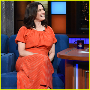 Rachel Weisz Jokes About Baby Bump on 'The Late Show': 'Too Much Pizza!'