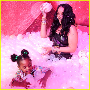 Rihanna Plays with Adorable Niece Majesty at Makeup Launch