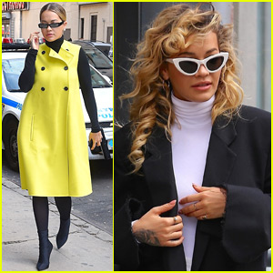 Rita Ora Goes Bright & Bold While Out in NYC