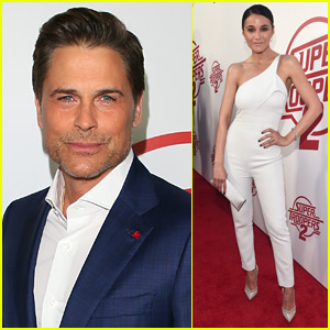 Rob Lowe & Emmanuelle Chriqui Step Out for 'Super Troopers 2' Premiere