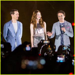 Robert Downey Jr. & Benedict Cumberbatch Bring 'Avengers: Infinity War' to Singapore