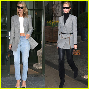 Rosie Huntington-Whiteley Has the Gray Blazer Look on Lock!
