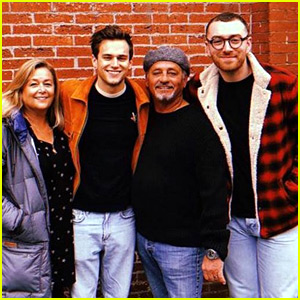 Sam Smith Hangs Out with Boyfriend Brandon Flynn & His Family!