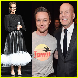 Sarah Paulson, James McAvoy, & Bruce Willis Bring 'Glass' to CinemaCon 2018!