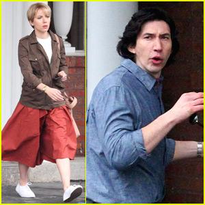 Scarlett Johansson & Adam Driver Film New Movie in NYC