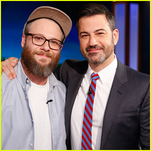 Seth Rogen Recalls Smoking Weed In Front Of Steven Spielberg on 'Jimmy Kimmel Live'!