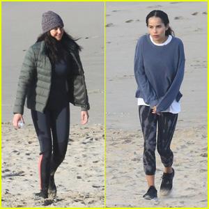 Shailene Woodley & Zoe Kravitz Film Scenes on the Beach for 'Big Little Lies' Season 2!