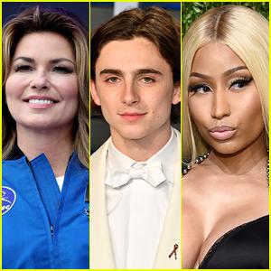 Shania Twain Parties with Nicki Minaj, Timothee Chalamet, & More at Coachella