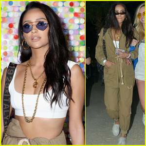 Shay Mitchell Shows Off Her Toned Midriff at Coachella!