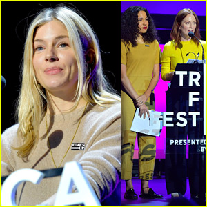 Sienna Miller Joins Julianne Moore & Jurnee Smollett-Bell at Time's Up Talk