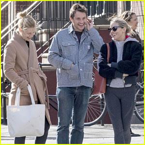 Sienna Miller Runs Into Pregnant Claire Danes & Hugh Dancy in NYC