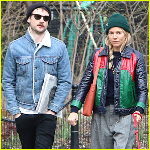 Sienna Miller Takes Her Dog for a Walk with Ex Tom Sturridge