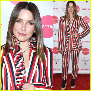 Sophia Bush Goes Pretty in Stripes for Book Party in NYC!