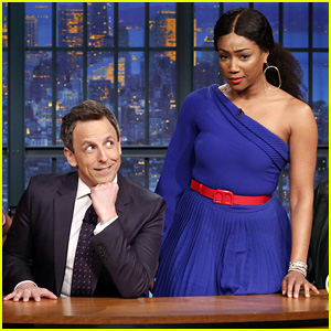 Tiffany Haddish Tells the Joke Seth Meyers Can't Tell on 'Late Night' - Watch!
