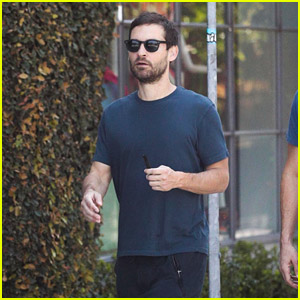Tobey Maguire Grabs Coffee With a Friend in West Hollywood