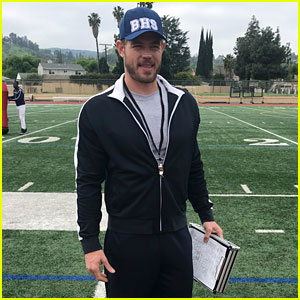 Trevor Donovan Channels High School Football Coach in First On-Set Photo From 'The Baxters' (Exclusive)