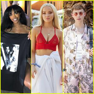 SZA, Dove Cameron, Tommy Dorfman & More Stars Visit the 'V House' at Coachella!