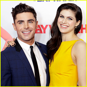 Zac Efron's Comment on Alexandra Daddario's Instagram Is Getting Some Attention