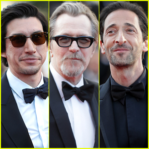Adam Driver, Gary Oldman, & Adrien Brody Suit Up for Final Day of Cannes 2018!
