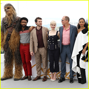 Alden Ehrenreich, Emilia Clarke & Donald Glover Hit Cannes Festival for 'Solo: A Star Wars Story' Photo Call!