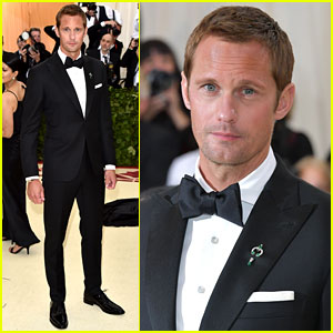 Alexander Skarsgard Cuts a Dapper Figure at Met Gala 2018