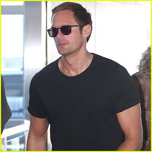 Alexander Skarsgard Jets Out of NYC After Met Gala 2018