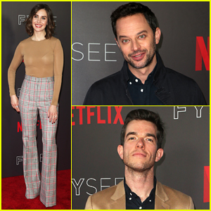Alison Brie, Nick Kroll & John Mulaney Step Out for Netflix's FYSEE Animation Panel!