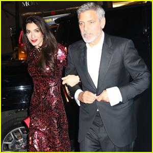 Amal Clooney Changes Into Red Sequined Gown for Met Gala 2018 After Party with George Clooney!