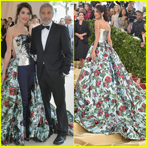 Amal Clooney Stuns on Met Gala 2018 Red Carpet with Husband George Clooney By Her Side!