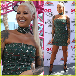 Amber Rose Hosts Pool Party in Las Vegas!