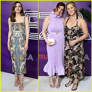 Amy Schumer Supports Gillian Jacobs & Vanessa Bayer at Netflix's 'Ibiza' Premiere