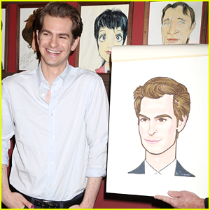Andrew Garfield Has the Best Reaction to Sardi's Caricature Unveiling!